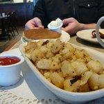 Texas potatoes and pancakes