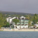 View of hotel  from catamaran