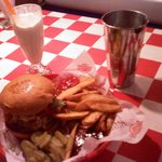 This is one tasty burger and a damn good shake!