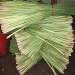 Stackes of lemongrass in market