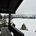 The view in the front of cabin 5, looking toward the ski-resort