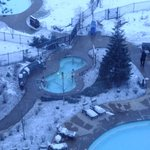 Outdoor pool in the snow
