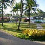 near the swimming pool area..