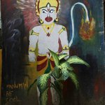 Hanuman B Cool painting at the cafe