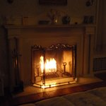 The fireplace in the Lillian James room