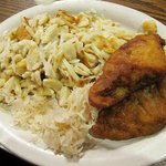 Lenten plate at Webos: knoephle, kraut, & fried fish