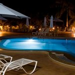 ELEGANT POOL SIDE AT NIGHT