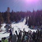 beautiful skiing