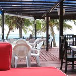 Open air beach side dining