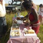 Breakfast picnic in the Mara