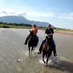 Riding on the river!