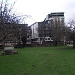 View of the Apartment block from St Mary Magdalen Bermondsey