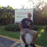 na frente do hotel, próximo ao cassino