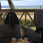 Perfect Day. Surfed 2 hrs and had breakfast with this view..