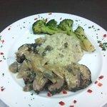 pork tenderloin & mushroom risotto