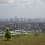 The view of Panama City from the Temple grounds