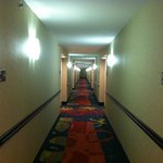 hallway on one of the guest floors