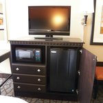 each room comes with large tv,microwave and fridge
