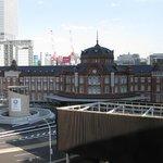 5階テラスから見た東京駅丸の内駅舎