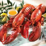 Lobsters with spicy sauce