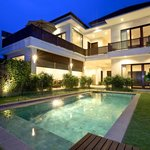 Private Pool Villas with frameless glass Aust'n standards pool fencing
