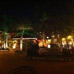 the restaurants courtyard