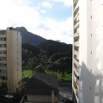 Diamondhead from our room on the hotel's south side