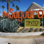 The lovely front of the Saguaro hotel..