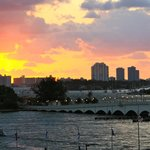 Sunrise over Biscayne Bay from room balcony