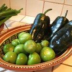 Homemade Salsa Verde prep