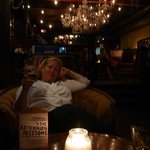 Relaxing at the Morrissey Pub.