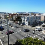 Panorama dalla camera su Lombard street e Golden Gate Bridge