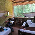 Vårt rum på TRC, djungeln alldeles utanför!