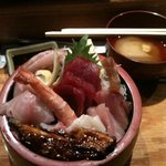 sashimi bowl! yummy.
