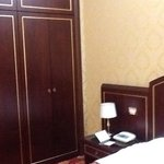 Large armoire next to the bed, included a safe