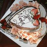 Our Valentine 3 tier yummy cake