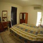 Interior Room One Queen Bed