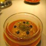 Tomato crab aubergine