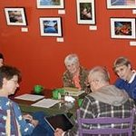 A local group meets for discussion over coffee and scones