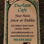 durham cafe, lindsay. fab food and service