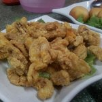 Salted egg york squid