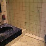 Bathroom: washbasin & shower stall
