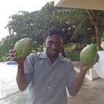 Kerry with our coconuts-he was the best!