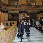 Escalinata de ingreso al Teatro Colón