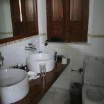 Bathroom ok, but very small.