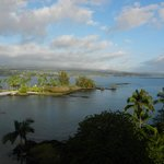 View of the bay and Hilo from our balcony
