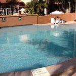 Fenced shallow kids pool