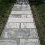 Marble walkways in the town!