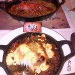 Bacalao y arroz con bogavante. Inmensas raciones