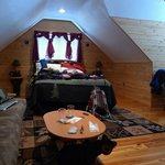 Black Bear Honeymoon suite - looking toward the windows